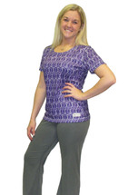 Purple Ribbon Cancer Awareness Active Wear T-Shirt by Live for Life
