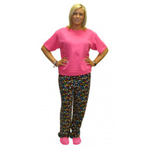 Cancer Awareness black background with Multi-Colored Ribbon Sleep Pant by Live for Life