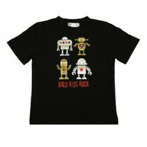 Childhood Cancer Awareness Bald Kids Rock T-Shirt by Live for Life