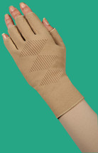 Juzo Expert Flat Knit Gauntlet with Thumb & Finger Stubs with Coolvent