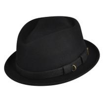 Betmar Calvin hat in black with a black buckle trim