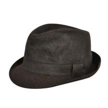 Betmar Thomas Hat in black with a black trim