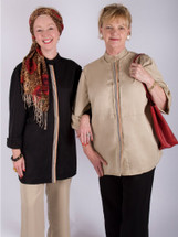 The Embellished Casual by Healing Threads that is Port Accessible/Drain Management Shirt