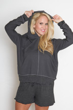 JuJu Jams Hoodie with Optional Built in Pocketed Bra/Optional Custom Arm Sizing