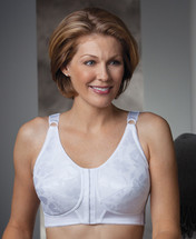 Trulife Mandy Three Quarter Long Line Posture Soft Cup Mastectomy Bra in White, Nude colors