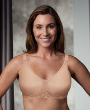 Trulife Audrey Seamless Lace Accent Underwire Mastectomy Bra in Latte