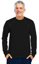 Men's Black Chemo|Port-Accessible Long Sleeve Shirt by Comfy Chemo