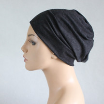 Charcoal modal knit Casual Hat by Turban Diva