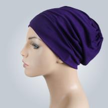 Purple Casual Hat by Turban Diva
