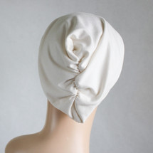 Creme Casual Hat by Turban Diva