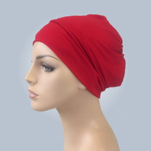 Red Casual Hat by Turban Diva