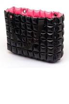 Inflatable & Reversible Bag in Black & Fucshia