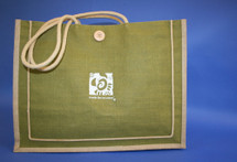 Ready For Recovery Eco-Friendly Canvas Tote  in green and Khaki