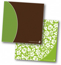Ready For Recovery 3 Ring Binder in green floral or in brown and green