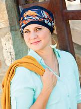 denim turbans, turbans for hair loss, hats for chemo, chemo hats, chemo turbans, head coverings for hair loss, hats with heart, turbans