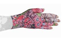 Lymphedivas Compression Glove Bloomin' Betty Dark Pattern