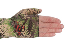 Lymphedivas Compression Gauntlet for lymphedema in Jungle pattern