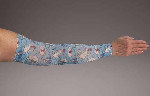 Compression Arm Sleeve for lymphedema by Lymphedivas in Kiku Pattern