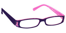Pink Ribbon Reading Glasses, Living Beyond Breast Cancer Reading Glasses, Breast Cancer Awareness Reading Glasses