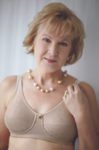 American Breast Care Mastectomy Rose contour bra in Beige