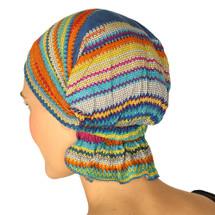 Christina Chemo Beanie - Rainbow Aztec Print Knit