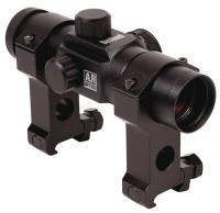 AR Optics Red Dot Sight 1x28mm 6 MOA Reticle Matte Black Clampacked - 029757740045
