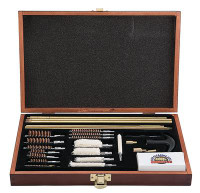 GunMaster Deluxe Universal Gun Cleaning Kit In Wood Storage Box - 761903368702
