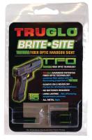 Tritium Fiber Optic Brite-Site Handgun Low Sight For Glock 17/17L/19/22/23/24/26/27/33/34/35/38/39 Yellow Rear Sight - 788130020951