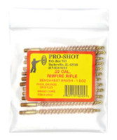 Brass Core-Bronze Bristle Rifle Length Bore Brush .22 Caliber - 709779100019