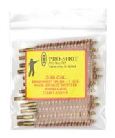 Brass Core-Bronze Bristle Rifle Length Bore Brush .338 Caliber - 709779100118