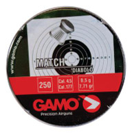 Gamo Match Pellets .177 Caliber Flat Nose 250 Per Tin - 793676000145