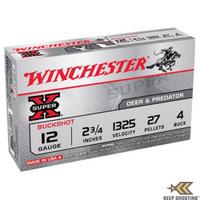 Winchester XB124 Super-X 12ga Buckshot Shells - (5/box) - 020892007109