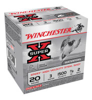 Super-X Xpert Steel Waterfowl Load 20 Gauge 3 Inch 1500 FPS .875 Ounce 2 Steel Shot - 020892017269