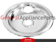 "GE Hotpoint Kenmore Roper Stove Range Cooktop 8"" Chrome Drip Pan Bowl WB32X106"