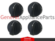 4x Whirlpool Estate Stove Oven Range Burner Knobs WP8273103 PS11745570 AP6012363