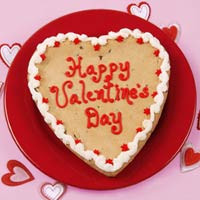 Happy Valentine's Big Heart Cookie