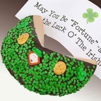 St Patricks Day Giant Fortune Cookie