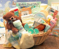 Deluxe Welcome Home Precious  Baby BasketAvailable in Pink, Blue or Teal/ Yellow
