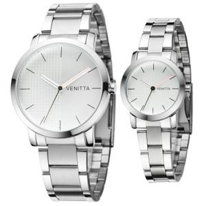 Twin Watch Set - Silver by Venitta