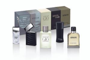 Giorgio Armani Men's Boxed Collection, EDP, 2 x 4 ML, 3 x 5 ML