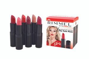 Rimmel 6 Lasting Finish Lipsticks by Kate Moss