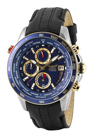 Aviator Gent's World Time Pilot Watch