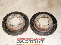 Brake rotor set 1G AWD DSM or GVR4 - Drilled