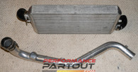 Custom Bell 24x12x3 Front Mount Intercooler w/ upper ic pipe 1G DSM