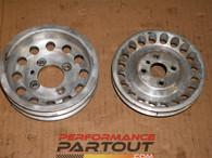 Unorthodox crank & pump pulley set 4G63 6bolt 1g
