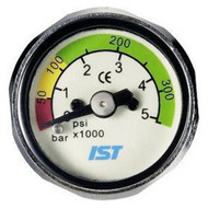 IST Scuba Diving Pony Cylinder Mini Button Pressure/Contents Gauge