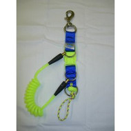 Detachable Coiled Lanyard Complete with Snap Bolt in Blue