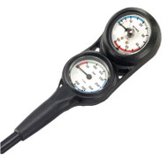 "Dive Team Mini Pressure/Contents Gauge & Depth Gauge on32"" Hose."