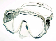 Atomic Aquatics Frameless Single Lens Scuba Diving Mask in Clear Silicone.