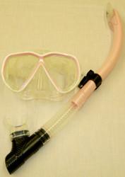 IST Martinique Mask Pink Trim & IST SN60 Pink Snorkel Combo Set